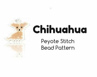 Chihuahua Pattern, Peyote / Brick Stitch Bead Weaving, Jewelry Crafts    INSTANT DOWNLOAD