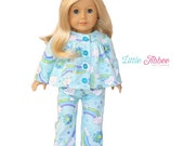 "Download Now - Sewing Pattern 18"" Doll Pajamas"