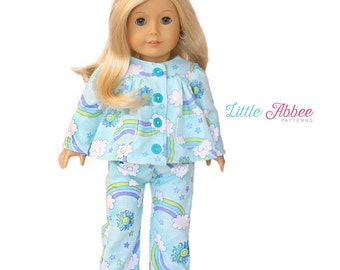 "Download Now - Sewing Pattern 18"" Doll Pajamas PDF 72"