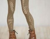 Khaki brown leggings for BJD