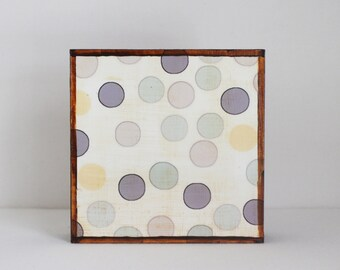 polka dot nursery art, geometric print for nursery, art block, woodland nursery, boho nursery, kids wall decor, redtilestudio, nursery art