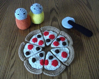 Crochet Pizza Set, Made to Order