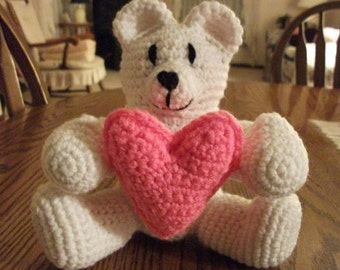 Crochet Valentine's Bear, Made to Order