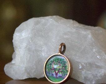Oak Tree gift idea for her ~handmade pendant by Rachelle Montoya~unique tree gift for her~oak tree necklace