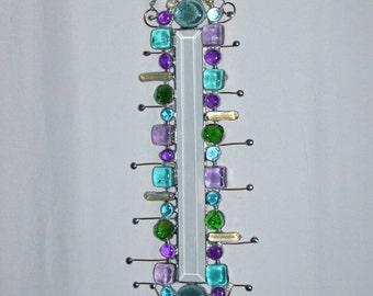 Glass Artwork - Beveled - Colorful - Hippie Art - Custom - Made To Order - Suncatcher - Metal Art - Bohemian - Window - Wall
