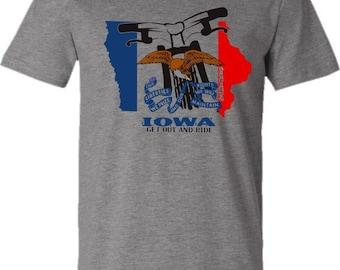 Bicycle T-shirt-BIKE IOWA-Bicycle T-shirt,Grey,Road Bike t-shirt, Mountain bike t-shirt, Bike gift, gifts for cyclists,graduation gift