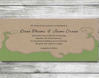 Wedding Invitation - DIY Printable Wedding Invite