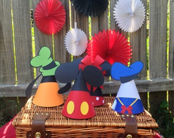 Mickey Mouse Clubhouse Inspired Party Hat - Mickey Hat, Minnie Hat, Goofy Hat, Donald Hat