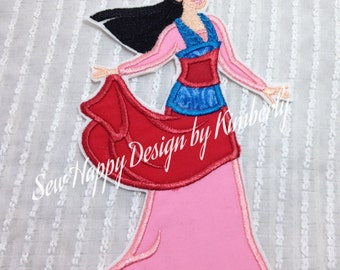Mulan Inspired Iron on Appliqué Patch