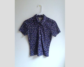 90s floral button up