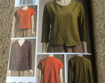 Vogue Pullover Top Pattern Marcy Tilton Wearable Art  Vogue 8497 Moderate Stretch Knit Womens Sewing Pattern  Sizes 6 - 12