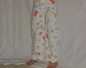 Clearance Sale - Girls One of a Kind Pant with Button Fly Front Yoke Cotton Beach Print.....Sizes 6, 8, 12