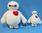 Disney Baymax Big Hero 6 Amigurumi Crochet Doll Handmade