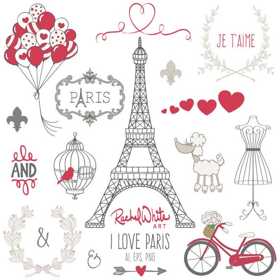 I Love Paris Wallpaper cartoon : I Love Paris Vector Illustrations 25 images Black color
