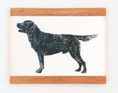 Black Lab. Large Handmade Labrador Retriever Screenprint. 20 x 30 Inches. Bird Dog, Gun Dog, Hunting Dog Home Decor.