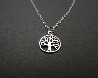 Tree Necklace, Christmas Gift, Mothers Day, Gift Idea, Tree Life, Mom Necklace, Sterling Silver Jewelry, Nature Jewelry, Thanksgiving Gift