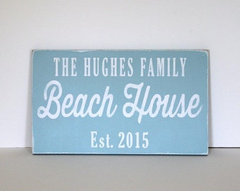 personalized beach house sign, beach house, shore house sign, beach decor, personalized sign