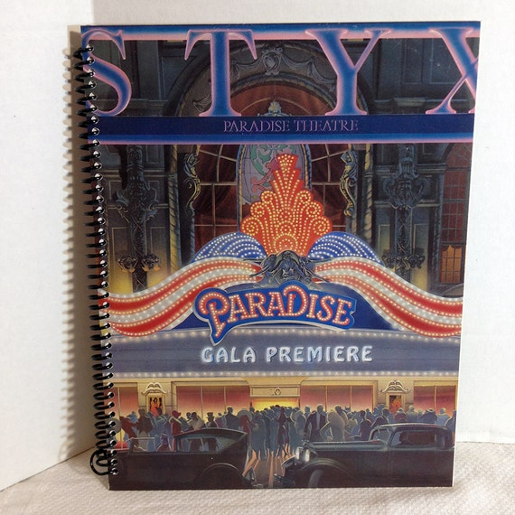Styx Paradise Theatre Handmade Album Cover Notebook Vintage