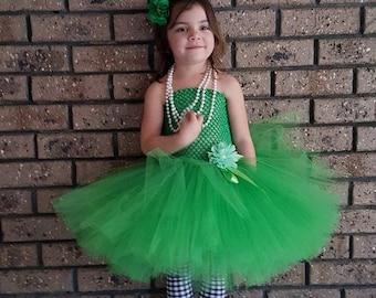 Emerald Green Tutu Dress- St Patricks Day Dress, Irish Tutu Dress- Green Tutu-