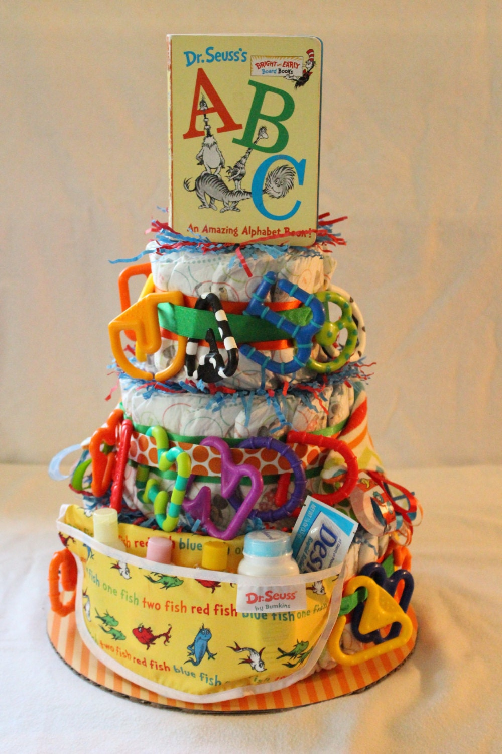 Dr Seuss Themed Diaper Cake