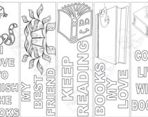 bookmark reading 1, Bookmark, instant download, birthday activity, coloring sheet, coloring bookmark, bookmarks, bookmarks to print, reading