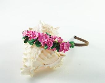 Woodland wedding tiara:Bridal tiara flowers - Bridesmaid woodland flowers - Bohemian bridal tiara- Bridal fairy tiara - Tiara headband bride