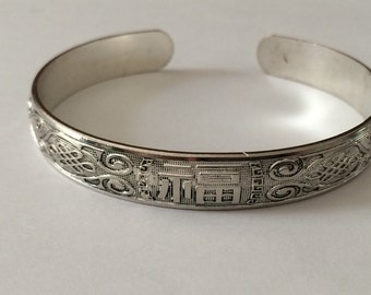 "Sterling Silver Plated Bracelet 8"" Large Wrist"