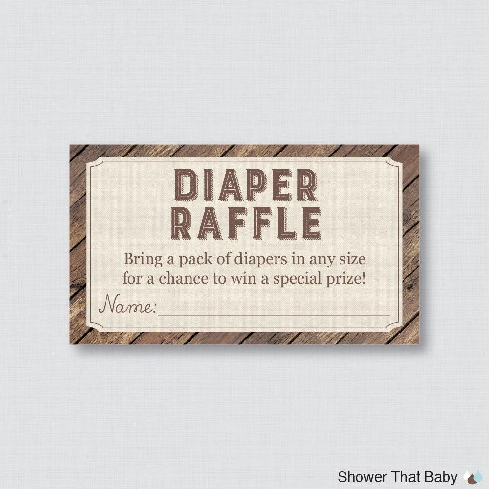 rustic diaper raffle rustic baby shower diaper raffle tickets and diaper raffle sign printable wood and burlap diaper raffle cards sign rustic diaper 0034