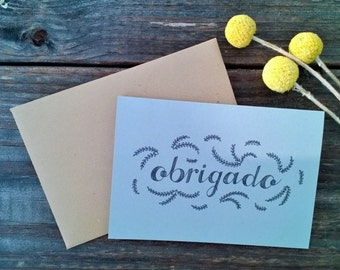 Portuguese Thank You Cards, Wedding Thank You Cards, Thank You Cards Set