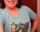 Minnesota Floral T-Shirt Women's V-neck