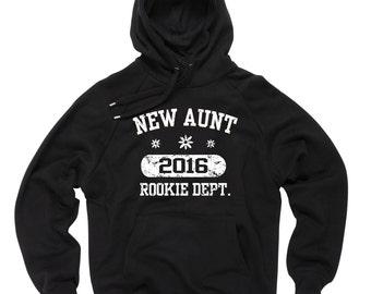 New Aunt 2016 Hoodie Hooded Sweatshirt Sweater Baby Shower