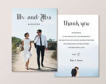 Wedding Thank You Card - Mr & Mrs (Printable)