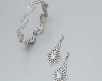 Wedding Jewelry Set, Bridal Jewelry Set, Wedding Jewelry, Bridal Earrings, Wedding Earrings, Achala Bridal Jewelry Set