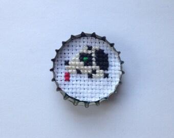dalmatian bottle cap pin