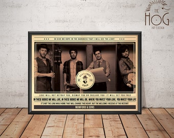 Mumford & Sons Poster - Quote Retro Music Poster - Music Print, Wall Art
