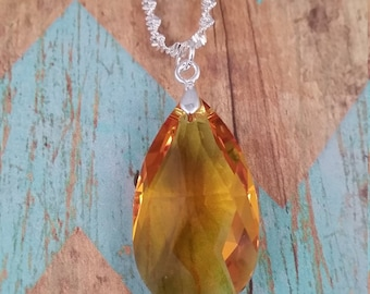 Swarovski Crystal Necklace - Amber