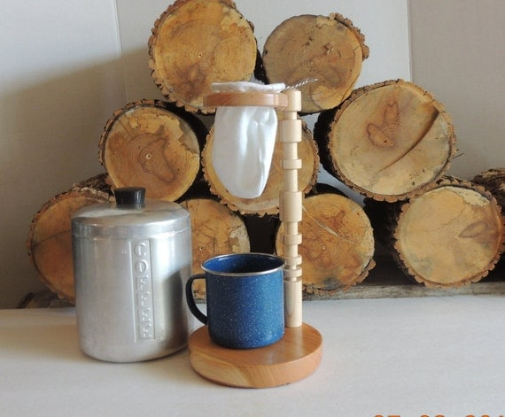 Handmade Maple Wood Pour Over Coffee Maker by PuraVidaTurnings