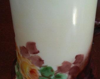 Gorgeous Bavarian Mug SELB H & Co Brown Trim w/Roses at bottom