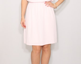 Pale pink dress Prom dress Short chiffon dress for bridesmaid Keyhole dress
