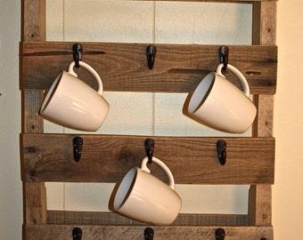 Pallet Mug Rack