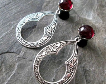 "Dangle Plugs - 00g 10mm - 7/16"" 11mm - 1/2"" 12mm - Filigree Plugs - Hoop Gauges - Wedding Gauges - Plug Earrings"