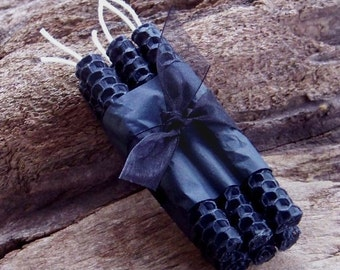 WITCHING HOUR Black 100% Beeswax Chime Mini Ritual Candles, Set of 6