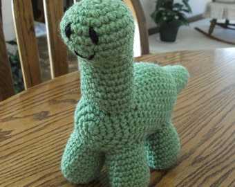 Crochet Deeno the Brontosaurus, Made to Order