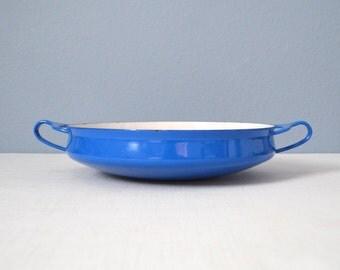Vintage Dansk Kobenstyle Blue Paella Pan