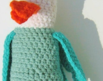 Bird Guy, available in any color - handmade crochet, made to order