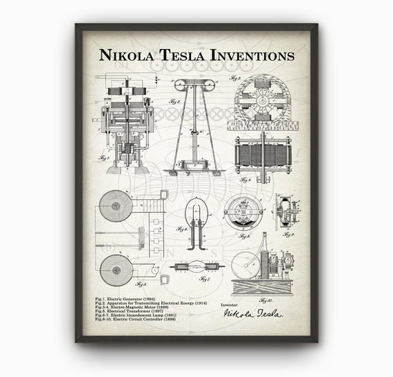 Free Create A Simple Circuit Diagram Electrical as well Nikola Tesla Patent Art Print Sara Harris together with Tesla moreover Ac Motor Control Circuit in addition Tesla Inventions Wall Art Poster Nikola. on nikola tesla diagrams