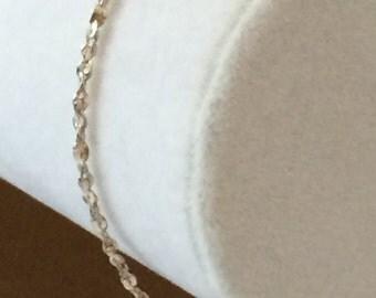 "Sterling Silver Twisted Link Bracelet 7 1/4"" x 2mm"