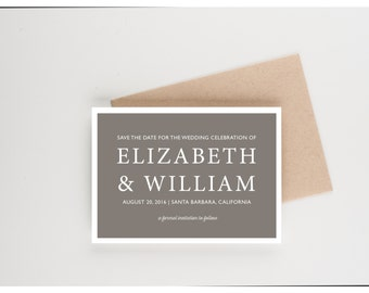 Celebrate Our Love Save The Date, Engagement Picture, Wedding Announcement or Bridal Shower