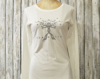 Dream More Bamboo/ Organic Long Sleeves T-shirt for Women by Uni-T