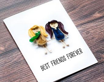 Custom Friendship Card - Personalized Friendship Card - Best Friends Forever card - BFF Card - Custom Card